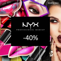 NYX Cosmetics tyhjennysmyynti -40 %!