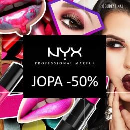 NYX Cosmetics jopa -50%