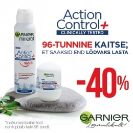 Garnier Action Control deodorantit -40%