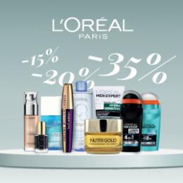 L'Oreal Paris jopa -35%