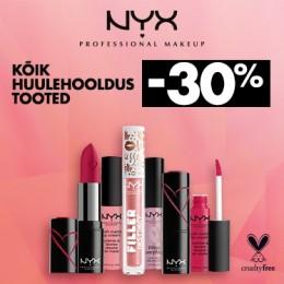 NYX Cosmetics huulituotteet -30%