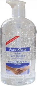 Pure-Klenz Hand Sanitizer With Pump (600mL)