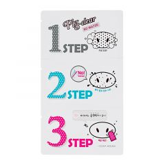 Holika Holika Vedetön Huokosten Puhdistussetti Pig Clear Blackhead 3-Step Kit (No Water)