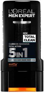 L'Oreal Paris Men Expert Shower Gel Total Clean 5in1 (300mL)
