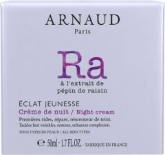 Arnaud Paris Eclat Jeunesse Rejuvenating Night Cream for All Skin Types (50mL)