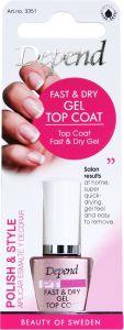 Depend PT Fast Dry & Gel Top Coat (8mL)