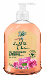Le Petit Olivier Pure Liquid Soap of Marseille Rose (300mL)