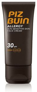Piz Buin Allergy Sun Sensitive Skin Face Cream SPF30 (50mL) Against Allergies