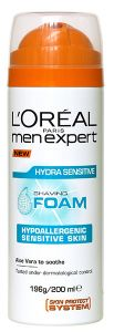 L'Oreal Paris Men Expert Hydra Sensitive Shave Foam (200mL)