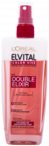 L'Oreal Paris Elvital Color-Vive Double Elixir Bi-Phase Spray Conditioner for Colored or Highlighed Hair (200mL)