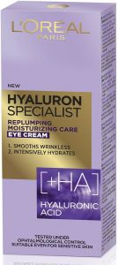 L'Oreal Paris Hyaluron Specialist Replumping Moisturising Eye Cream With Hialuronic Acid (15mL)