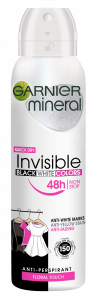 Garnier Mineral Invisible Black White Colors Spray Deodorant (150mL)