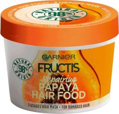 Garnier Fructis Hair Food Papaya Repairing 3-in-1 Mask for Damaged Hair (390mL)
