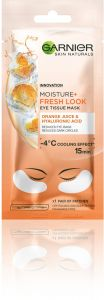 Garnier Skin Naturals Eye Tissue Mask with Orange Juice Extract and Hyaluronic Acid