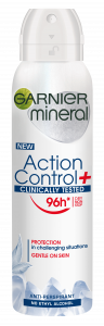 Garnier Mineral Action Control Clinically Tested Anti-perspirant Spray (150mL)