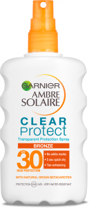 Garnier Ambre Solaire Spray Clear Protect Bronze SPF 30 (200mL)