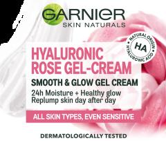 Garnier Hyaluronic Rose Smoothing Gel-Cream with Organic Rosehip Oil (50mL)