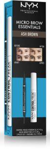 NYX Professional Makeup Micro Brow Essentials Ash Brown