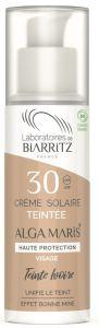 Laboratoires de Biarritz Certified Organic SPF30 Ivory Tinted Face Sun Cream (50mL)