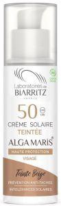 Laboratoires de Biarritz Certified Organic SPF50 Beige Tinted Face Sun Cream (50mL)