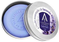 Lavandais Organic Round Lavender Soap In Metal Tin (100g)