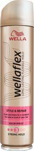 Wella Wellaflex Style & Repair Strong Hold Hairspray (250mL)