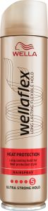 Wella Wellaflex Heat Pretection Ultra Strong Hold Hairspray (250mL)