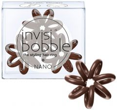 Invisibobble Nano Hair Ring (x3) Pretzel Brown