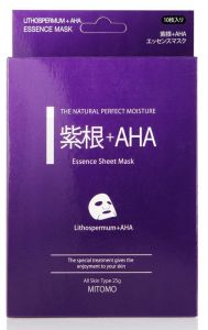 Mitomo Essence Mask with Aha and Lithospermum (10pcs)