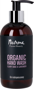 Nurme Organic Hand Wash Clary Sage + Lavender (250mL)