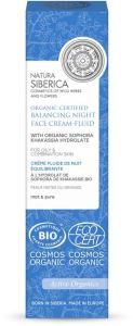 Natura Siberica  Organic Certified Balancing Night Face Cream-fluid For Oily & Combination Skin (50mL)