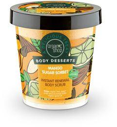 Organic Shop Body Desserts Mango Sugar Sorbet Body Scrub (450mL)