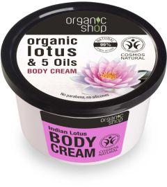 Organic Shop Body Cream Indian Lotus Cosmos Natural (Bdih) (250mL)
