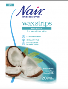 Nair Wax Stripes for Sensitive Skin Coconut (20pcs)