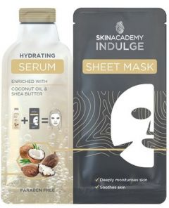 Skin Academy Indulge Serum Sheet Mask Hydrating 1 Dry Sheet Mask + Serum (25mL)