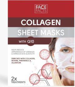 Face Fact Collagen & Q10 Sheet Mask (2pcs)