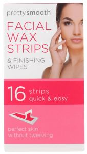 Pretty Smooth Facial Wax Strips With Finishing Wipes (16pcs)