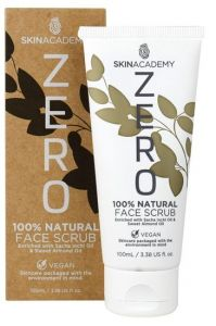 Skin Academy Zero Face Scrub 100% Natural With Sacha Inchi Oil And Sweet Almond Oil (100mL)