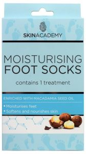 Skin Academy Moisturising Foot Socks Macadamia Nut (1pair)
