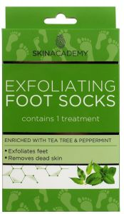Skin Academy Exfoliating Foot Socks Tea Tree & Peppermint (1pair)