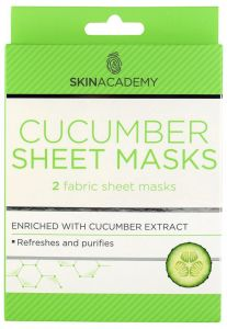 Skin Academy Sheet Mask Cucumber (2pcs)
