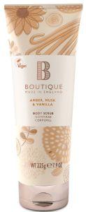 Boutique Vegan Body Scrub Amber, Musk & Vanilla (500mL)