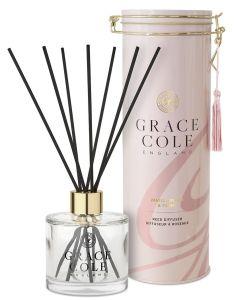 Grace Cole Luxury Reed Diffuser In Decorative Tin Vanilla Blush & Peony (200mL)