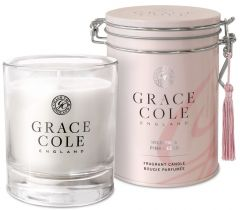 Grace Cole Luxury Scented Candle In Decorative Tin Wild Fig & Pink Cedar (200g)