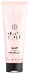 Grace Cole Body Butter Gel Wild Fig & Pink Cedar (225g)