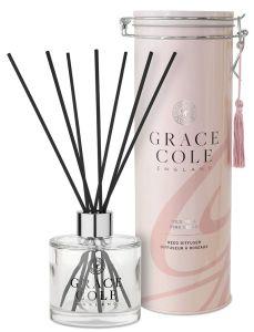 Grace Cole Luxury Reed Diffuser In Decorative Tin Wild Fig & Pink Cedar (200mL)