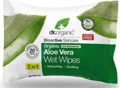 Dr. Organic Aloe Vera Wet Wipe (20pcs)