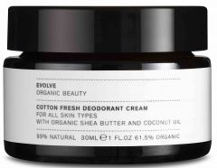 Evolve Organic Beauty Cotton Fresh Deodorant Cream (30mL)
