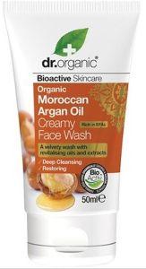 Dr. Organic Moroccan Argan Oil Creamy Face Wash Travel Size (50mL)