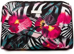 JJDK Cosmetic Bag Lilja Large Zebra/flower Print Nylon (25x16x14,5) 61313